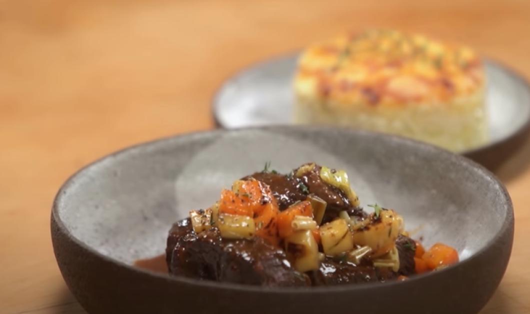 Ο Γιάννης Λουκάκος μας ετοιμάζει: Μοσχάρι μπρεζέ με κόκκινο κρασί & λαχανικά (βίντεο) - Κυρίως Φωτογραφία - Gallery - Video
