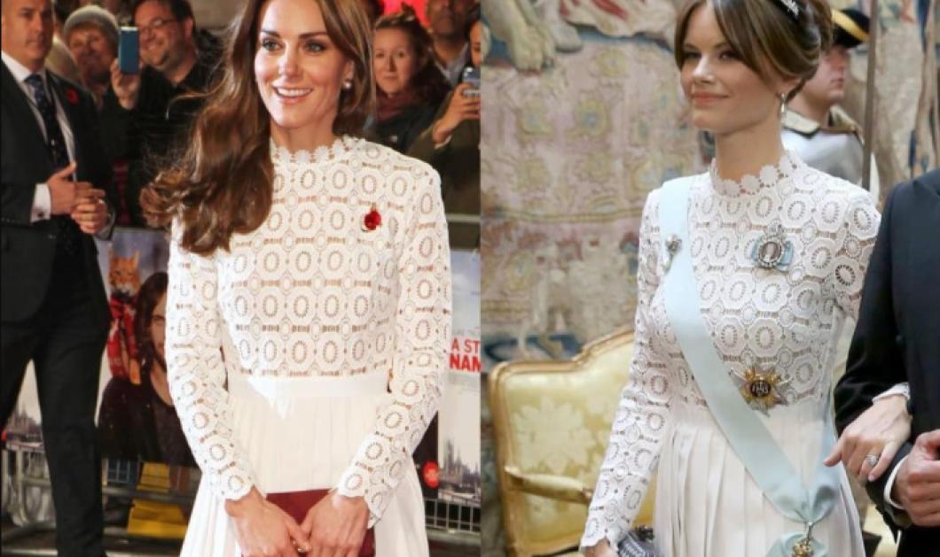 Ποια το φόρεσε καλύτερα; Η Κέιτ Μίντλεντον και η πριγκίπισσα Σοφία της Σουηδίας με το ίδιο εντυπωσιακό λευκό φόρεμα (φωτό) - Κυρίως Φωτογραφία - Gallery - Video