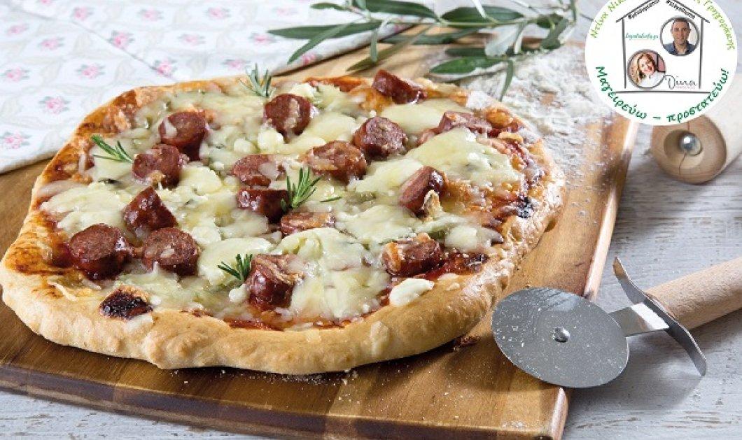 Η Ντίνα Νικολάου δημιουργεί: Απίθανη πίτσα με τυρένια ζύμη, λουκάνικο και μοτσαρέλα - Κυρίως Φωτογραφία - Gallery - Video