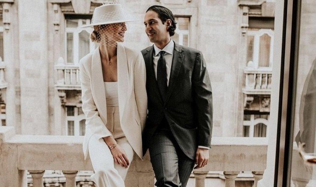 Αυτό το top-model παντρεύτηκε και φόρεσε ένα υπέροχο λευκό κοστούμι αλά Bianca Jagger αντί για νυφικό (φωτό) - Κυρίως Φωτογραφία - Gallery - Video