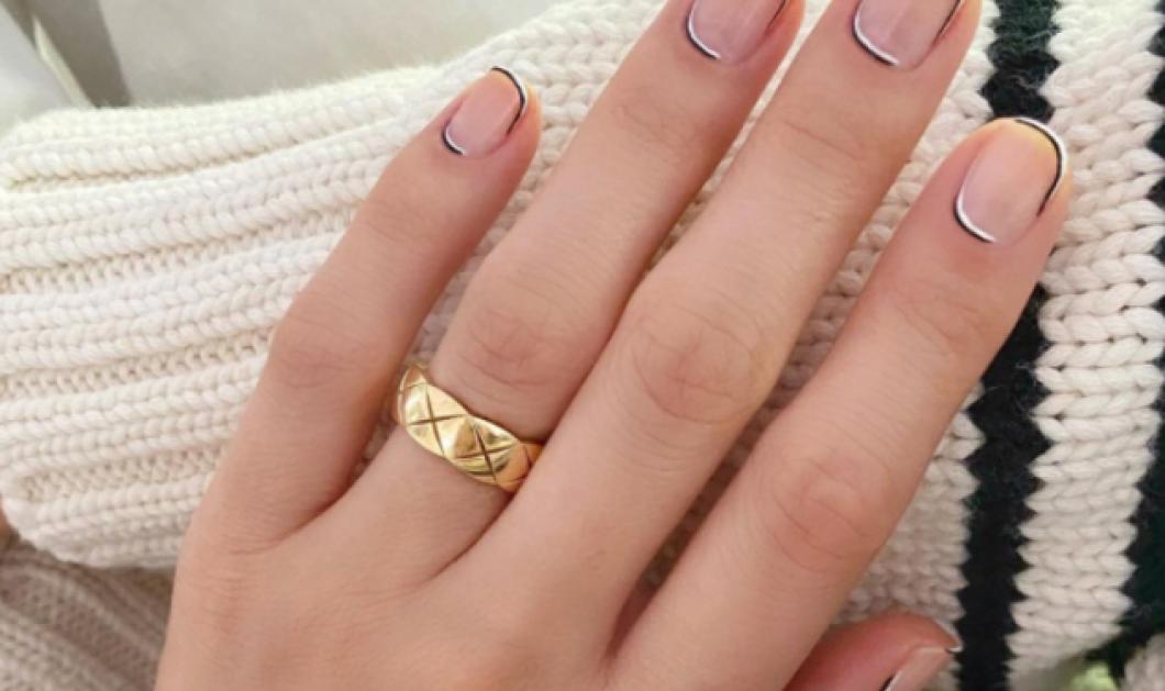 Η λεπτομέρεια που αναβαθμίζει τα french nails + 18 εντυπωσιακά σχέδια - Με χρώμα, λεπτές γραμμές  - Κυρίως Φωτογραφία - Gallery - Video