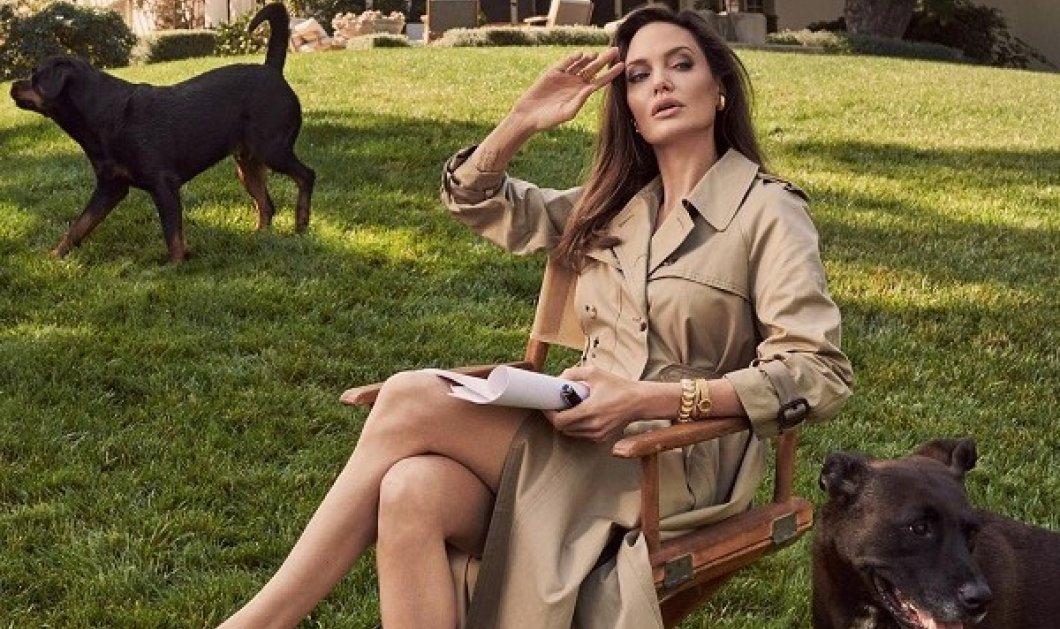 Η Αντζελίνα Τζολί ανοίγει το σπίτι και την τσάντα της στην βρετανική Vogue: Φωτογραφίζεται με vintage καφτάνι & Dior καπαρντίνα (φωτό & βίντεο) - Κυρίως Φωτογραφία - Gallery - Video