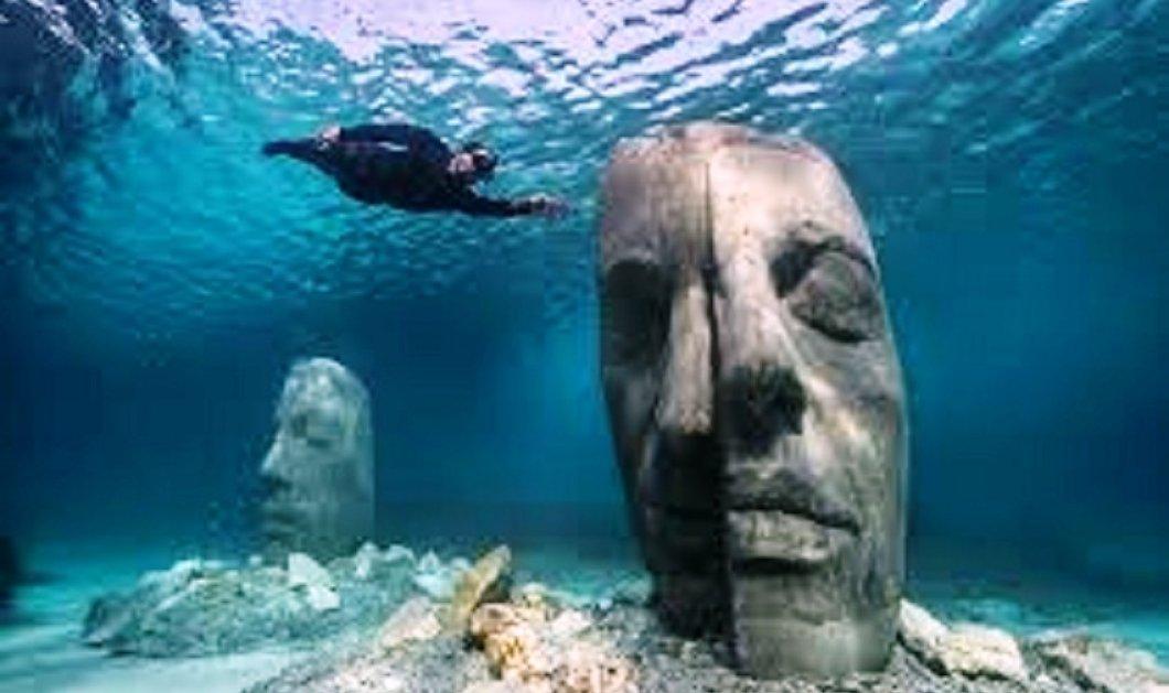 Κάννες: Το πρώτο υποβρύχιο μουσείο είναι γεγονός! - Με στολή δύτη οι φιλότεχνοι θαυμάζουν 6 μνημειωδών διαστάσεων μάσκες στο βυθό (φώτο) - Κυρίως Φωτογραφία - Gallery - Video