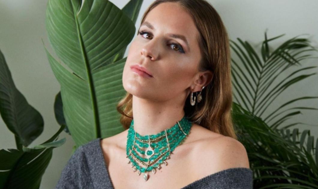 Η Ευγενία Νιάρχου παρουσιάζει ένα συγκλονιστικό κολιέ με πράσινα σμαράγδια - Με διαμάντια καιΟπάλ  - Κυρίως Φωτογραφία - Gallery - Video