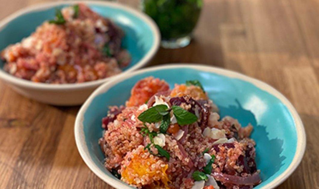 Η Αργυρώ Μπαρμπαρίγου μας φτιάχνει Vegan πιλάφι κινόα με λαχανικά - Θρεπτική και γρήγορη συνταγή που πρέπει να δοκιμάσεις  - Κυρίως Φωτογραφία - Gallery - Video
