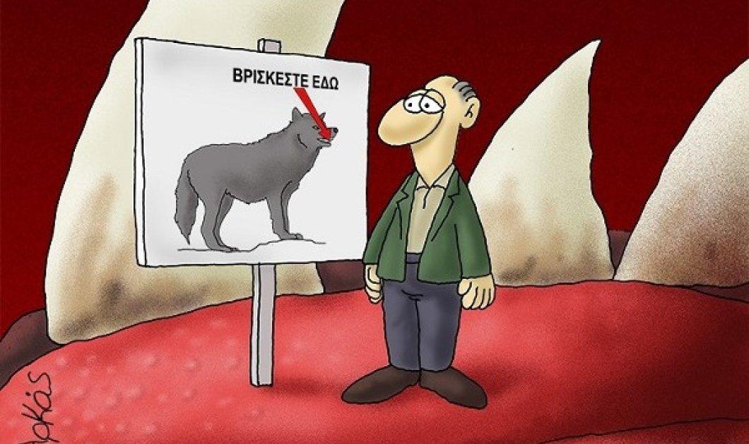 Επικός ο Αρκάς στο σκίτσο του για την πανδημία: «Βρίσκεστε εδώ»… στο στόμα του λύκου! - Κυρίως Φωτογραφία - Gallery - Video