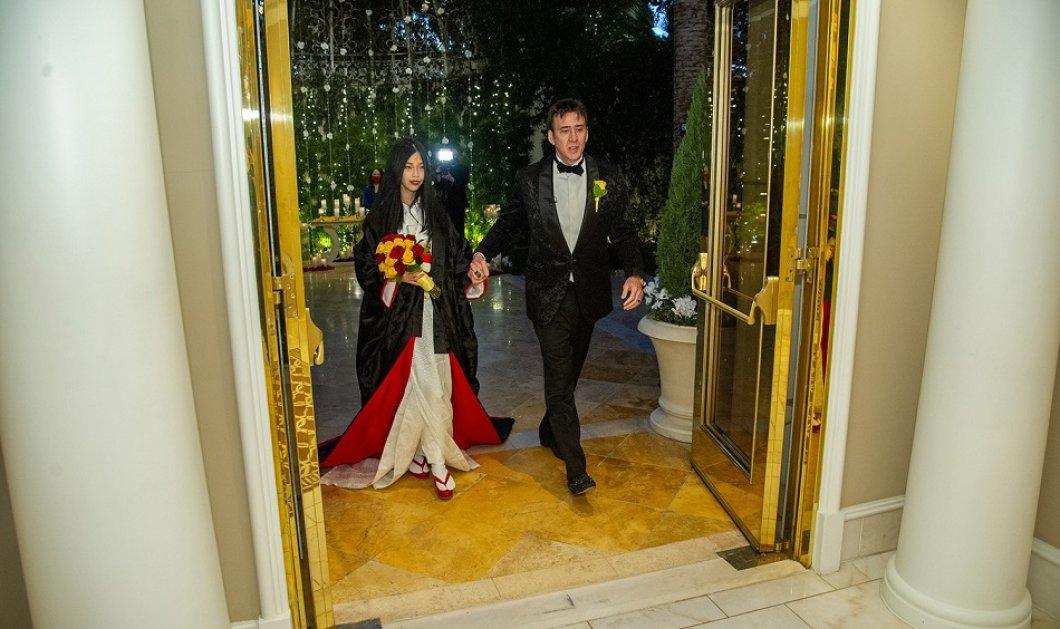 Όλες οι φωτογραφίες από τον πέμπτο  γάμο του  Nicolas Cage- Η 26χρονη νύφη με το μαύρο κιμονό - Η πρώτη ρομαντική βόλτα του ζευγαριού με άμαξα - Κυρίως Φωτογραφία - Gallery - Video