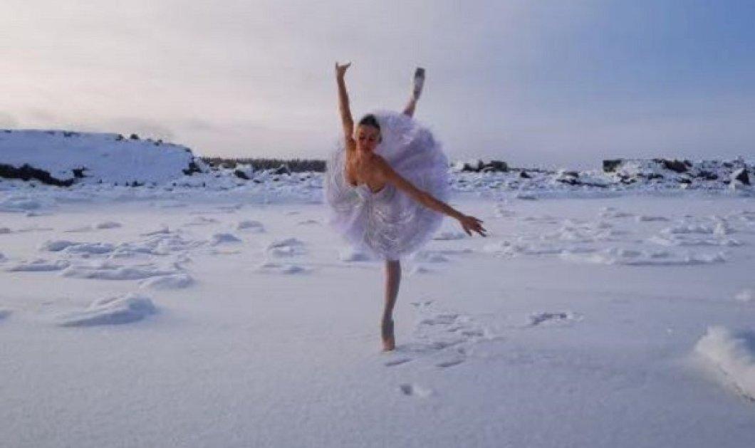 Εντυπωσιακό βίντεο: Ρωσίδα μπαλαρίνα χορεύει την Λίμνη των Κύκνων σε παγωμένο τοπίο - Κυρίως Φωτογραφία - Gallery - Video