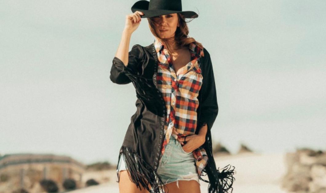 Η Έλλη Κοκκίνου cowgirl! Απίθανη! Το καρό πουκάμισο και το καπέλο far west, το ακαταμάχητο χαμόγελο! (φωτό) - Κυρίως Φωτογραφία - Gallery - Video