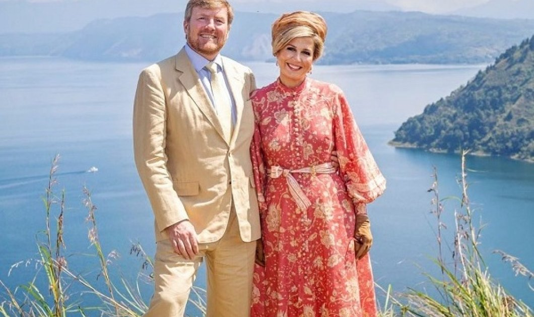 Η Μάξιμα και ο βασιλιάς της σε ταξίδι τους στην Ινδονησία: Η βασίλισσα της Ολλανδίας με floral φόρεμα, καπέλο και γάντια (φωτό) - Κυρίως Φωτογραφία - Gallery - Video