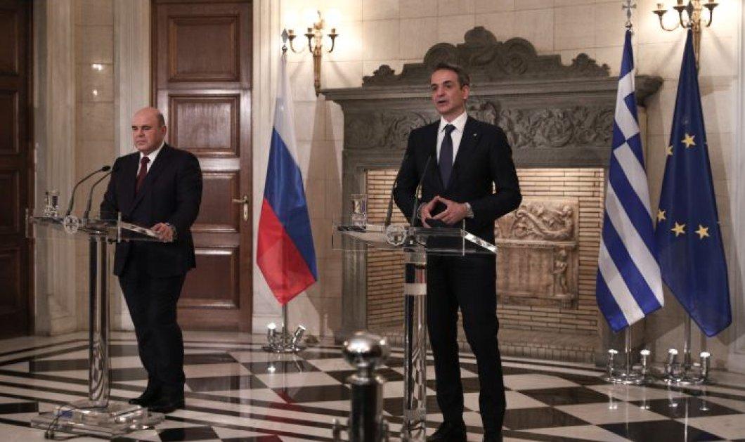 Κυρ. Μητσοτάκης - Μιχαήλ Μισούστιν: Οι σχέσεις των δυο χωρών μας έρχονται από πολύ μακριά και είναι στο χέρι μας να βαδίσουν και πολύ μακριά (βίντεο) - Κυρίως Φωτογραφία - Gallery - Video