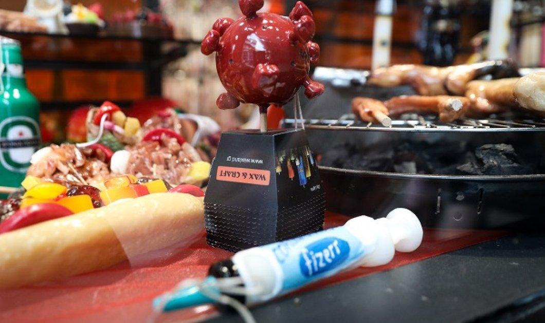 Οι πιο παράξενες λαμπάδες! Τι θα λέγατε αν φέτος την Ανάσταση κρατούσατε ένα… κερί - εμβόλιο ή ένα σουβλάκι; (φωτό) - Κυρίως Φωτογραφία - Gallery - Video