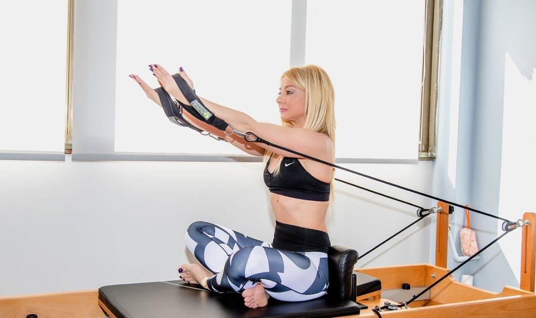 "Pilates: Τρεις ασκήσεις με το ""μαγικό"" reformer που θα μεταμορφώσει τα χέρια σας - Τις δείχνει βήμα-βήμα η Μαρία Μαραγιάννη (φώτο) - Κυρίως Φωτογραφία - Gallery - Video"
