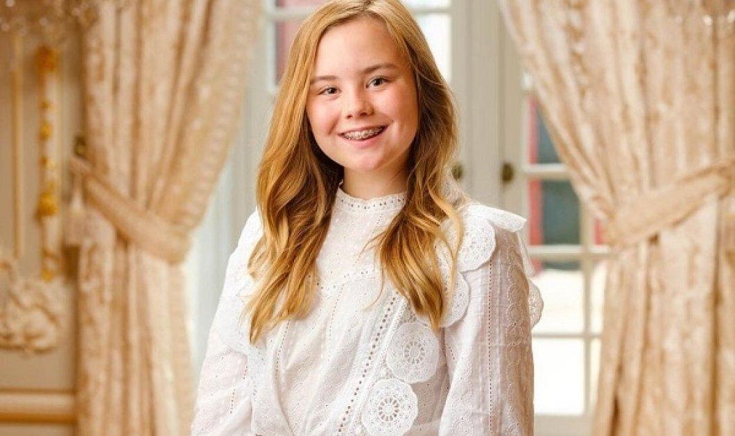 Γενέθλια στο παλάτι της Ολλανδίας: Η κοκκινομάλλα πριγκίπισσα Ariane έγινε 14 - Με λευκό φόρεμα & sage ύφος η μικρή κόρη της βασίλισσας Μάξιμα (φωτό) - Κυρίως Φωτογραφία - Gallery - Video