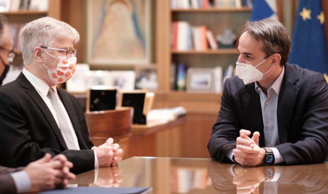 Συνάντηση Μητσοτάκη με τον Ισραηλινό καθηγητή Ναντίρ Αρμπέρ - Σε Αττικόν & Σωτηρία οι κλινικές δοκιμές του φαρμάκου για τον Covid (βίντεο) - Κυρίως Φωτογραφία - Gallery - Video