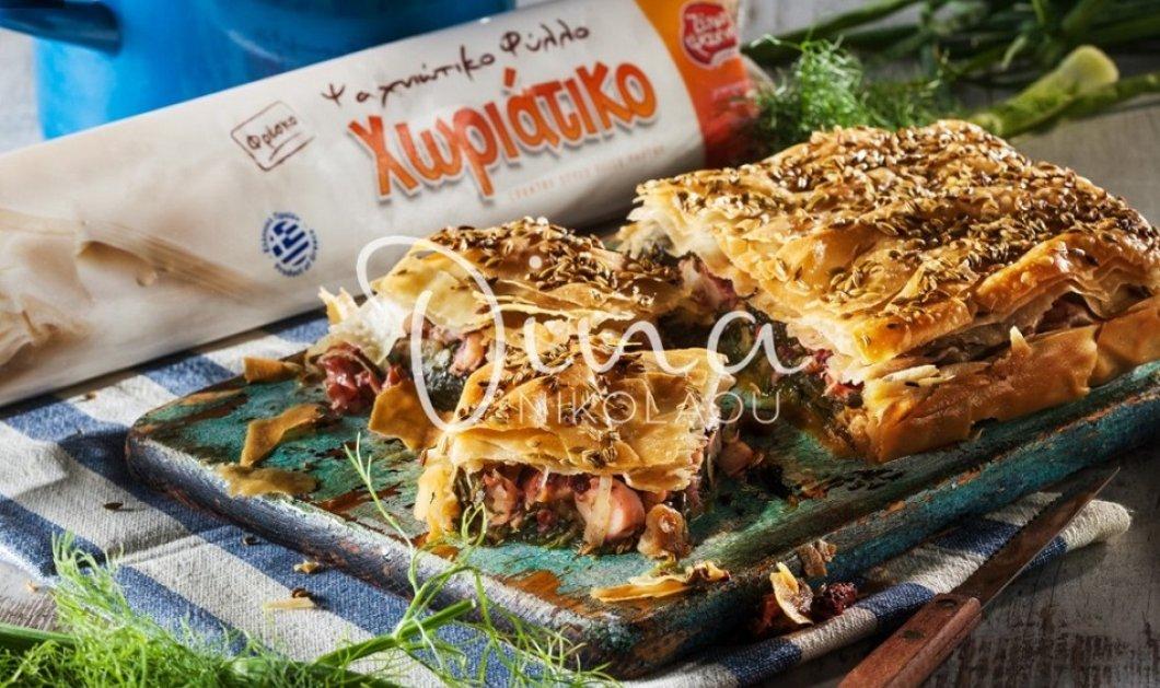 Χταποδόπιτα με αρωματικά χόρτα & φινόκιο - Ανοιξιάτικη & πεντανόστιμη η συνταγή της Ντίνας Νικολάου  - Κυρίως Φωτογραφία - Gallery - Video