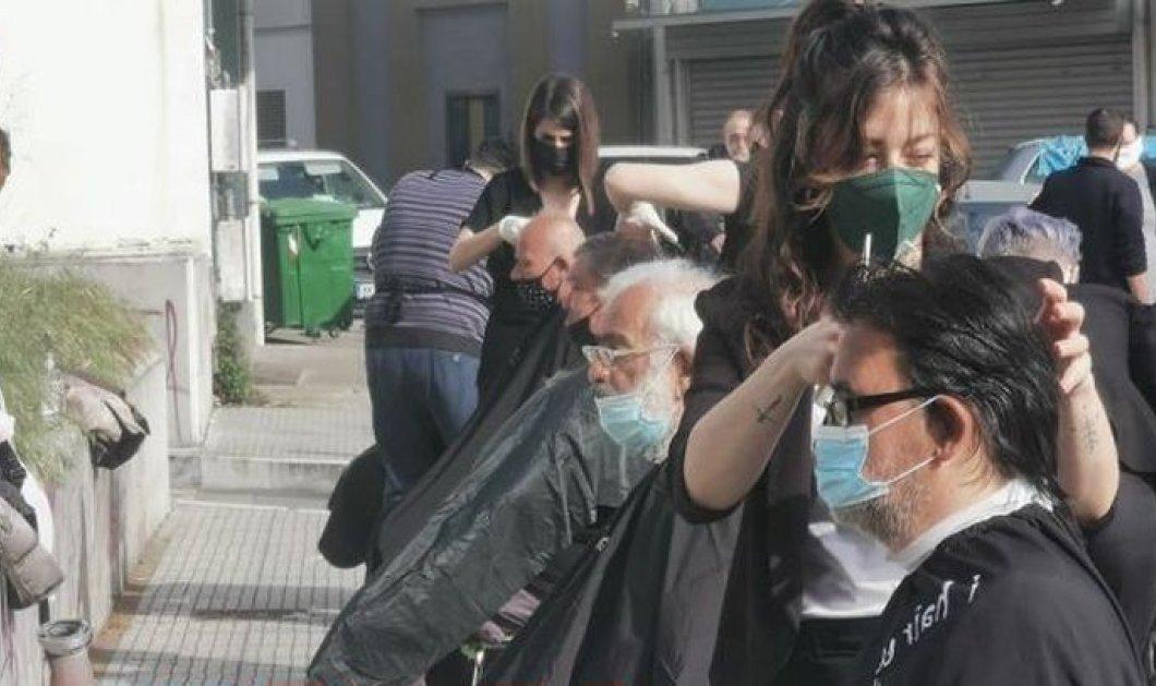 Good news - Θεσσαλονίκη: Κομμωτές της πόλης κούρεψαν άστεγους για το Πάσχα στο χώρο του υπνωτηρίου (φωτό - βίντεο) - Κυρίως Φωτογραφία - Gallery - Video
