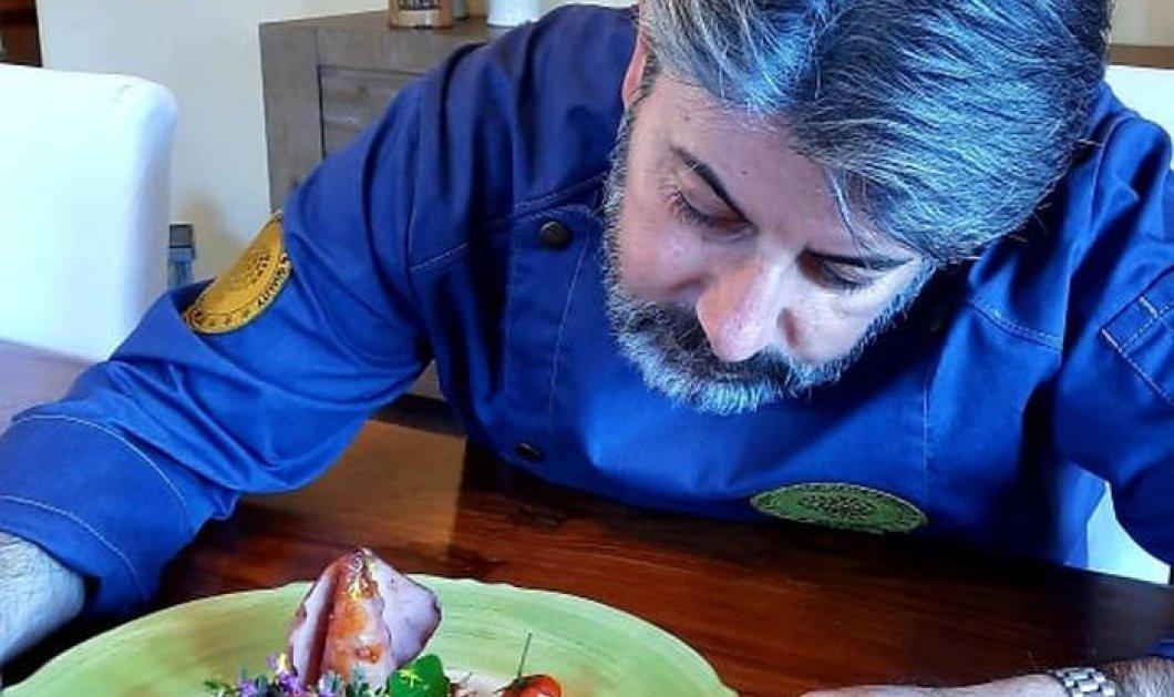 Καλαμαράκι γεμιστό με πλιγούρι στης Σάμου τις «Ψηλές Κορφές» - Του ex. chef Ευάγγελου Μπιλιμπά - Κυρίως Φωτογραφία - Gallery - Video