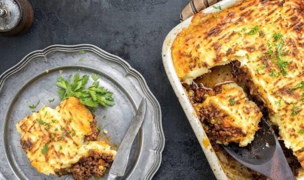 Αργυρώ Μπαρμπαρίγου: Πίτα του βοσκού με πουρέ πατάτας και κιμά - Μια διαφορετική χωριάτικη κιμαδόπιτα  - Κυρίως Φωτογραφία - Gallery - Video
