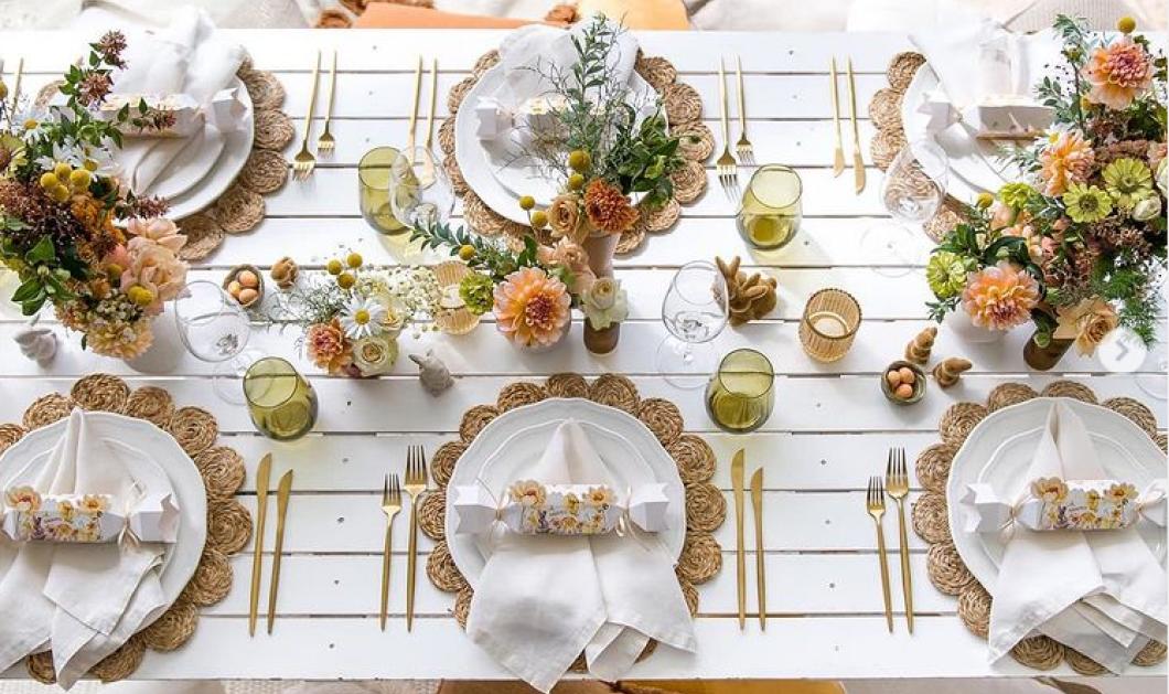 Υπέροχες ιδέες για να διακοσμήσετε το Πασχαλινό σας τραπέζι! - Λουλούδια, χρώματα, όμορφα τραπεζομάντηλα  - Κυρίως Φωτογραφία - Gallery - Video