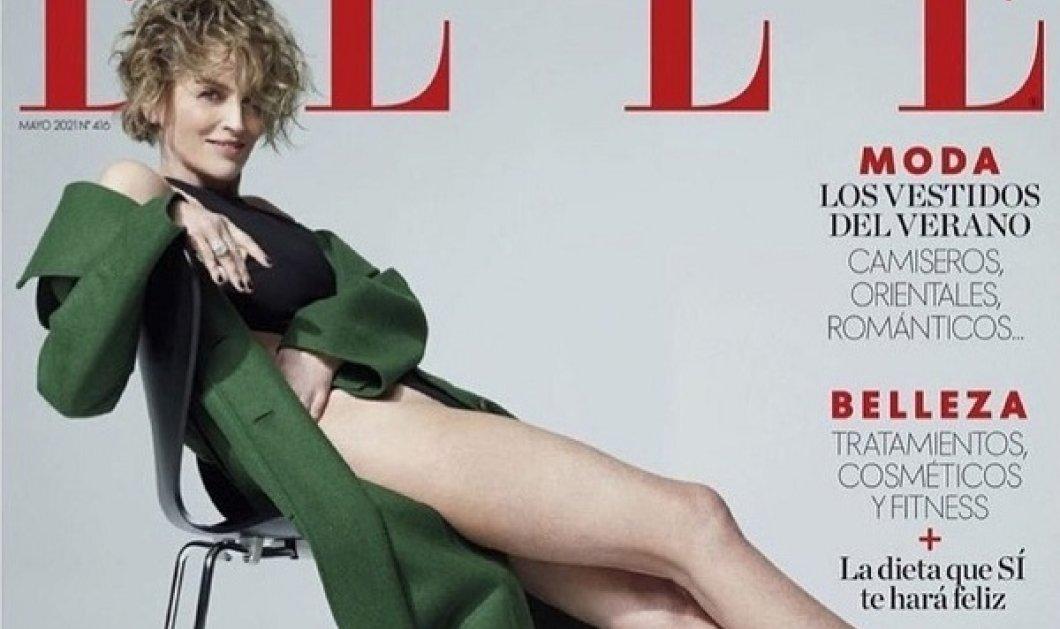Η 63χρονη Sharon Stone στο εξώφυλλο του ισπανικού Elle: Κορμάκι, γόβες και τα καλλίγραμμα πόδια της (φωτό) - Κυρίως Φωτογραφία - Gallery - Video