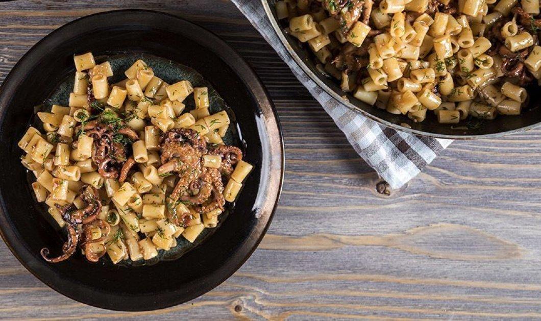 Άκης Πετρετζίκης: Η συνταγή του για την Μ. Τετάρτη - Πικάντικο χταπόδι με κοφτό μακαρονάκι - Κυρίως Φωτογραφία - Gallery - Video
