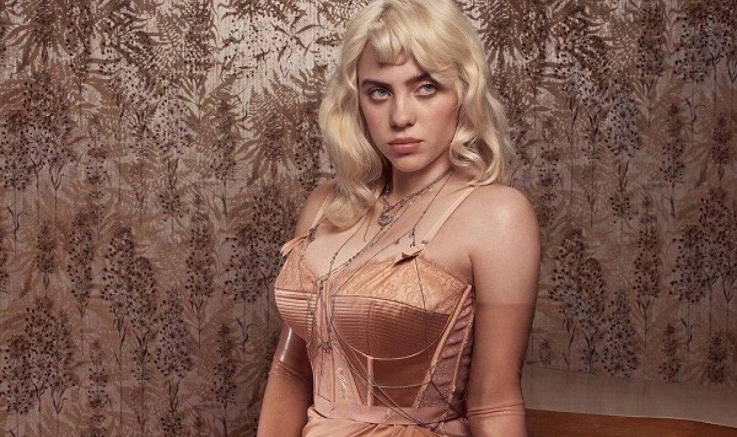 Αυτό και αν είναι μεταμόρφωση: Άλλος άνθρωπος η Billie Eilish στο εξώφυλλο της βρετανικής Vogue - Ξανθό μαλλί, σέξι ρετρό εσώρουχα (φωτό) - Κυρίως Φωτογραφία - Gallery - Video