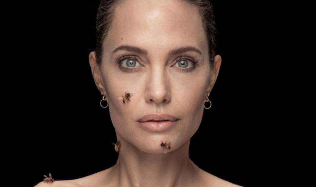 Η Angelina Jolie φωτογραφήθηκε με ένα σμήνος αληθινών μελισσών - Γιατί έμεινε άλουστη & άπλυτη 3 μέρες - Μία μπήκε μέσα στο φουστάνι της (φωτό) - Κυρίως Φωτογραφία - Gallery - Video