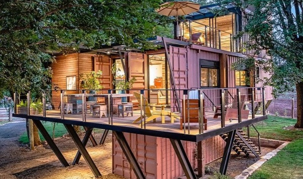 Απίθανα σπίτια φτιαγμένα από κοντέινερ: Μοντέρνα 2όροφα και 3όροφα με μεγάλα τζάμια, μπαλκόνια, αυλές ακόμα και... πισίνα (φωτό) - Κυρίως Φωτογραφία - Gallery - Video