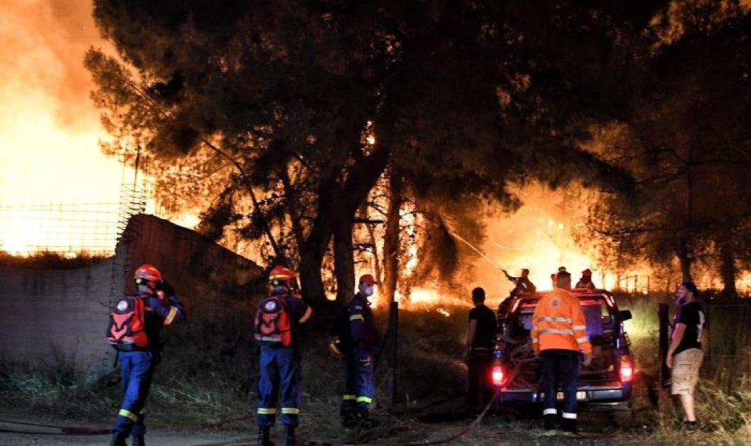 Μάχη με τις φλόγες στο Σχίνο Κορινθίας - Εκκενώθηκαν 6 οικισμοί και 2 μονές, ζημιές  στο ηλεκτρικό δίκτυο (φωτό - βίντεο) - Κυρίως Φωτογραφία - Gallery - Video