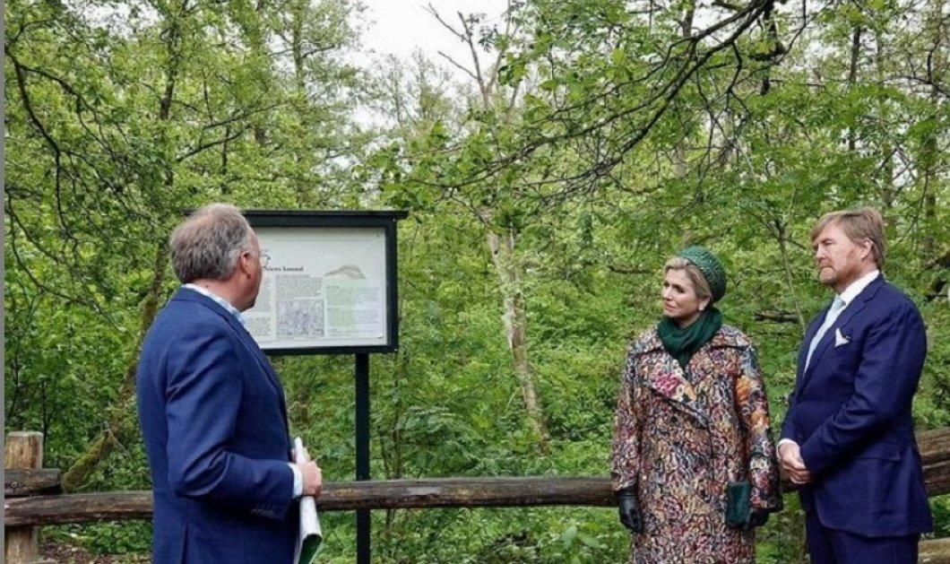 """She's got the the look"": Η βασίλισσα Μάξιμα με υπέροχη ανοιξιάτικη εμφάνιση - Floral μαντό Oscar De la Renta & πράσινο φόρεμα στην τελευταία επίσημη έξοδο (φώτο) - Κυρίως Φωτογραφία - Gallery - Video"