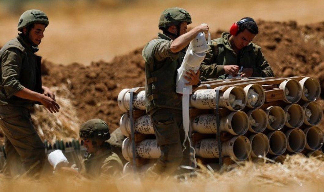 """""""Ηχούν τα τύμπανα του πολέμου"""" στο Ισραήλ: Άρματα μάχης αναπτύσσονται κατά μήκος των συνόρων με τη Λωρίδα της Γάζας  - Κυρίως Φωτογραφία - Gallery - Video"""