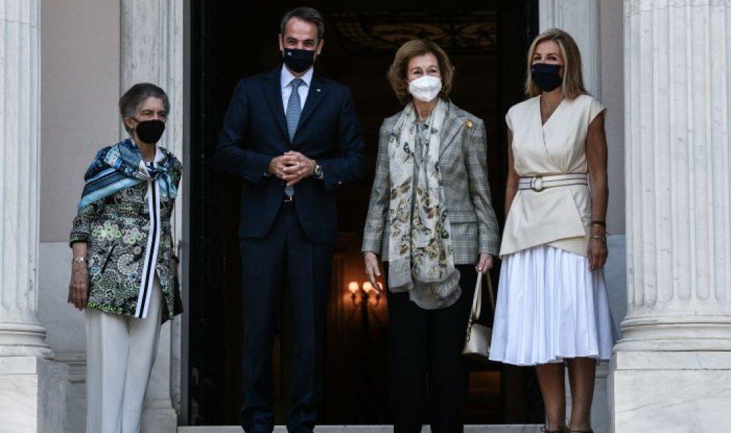Η βασίλισσα Σοφία της Ισπανίας στην Ελλάδα: Οι συναντήσεις με τον Πρωθυπουργό & την Πρόεδρο της Δημοκρατίας  - Σας αγαπάει όλος ο κόσμος είπε στον Κ. Μητσοτάκη(φωτό) - Κυρίως Φωτογραφία - Gallery - Video