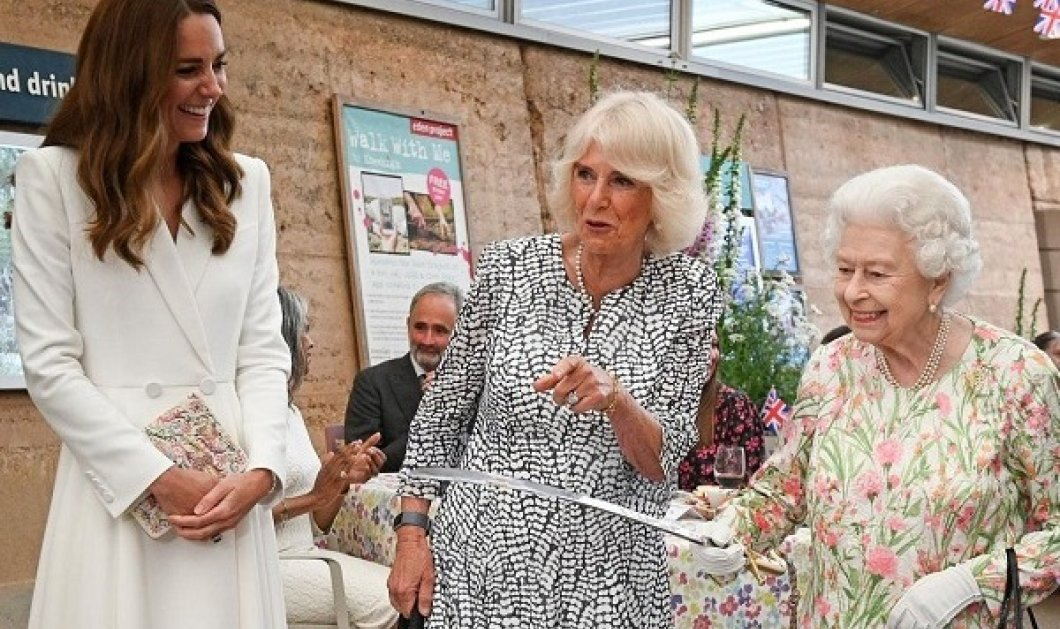 Kate - Camila, Jill - Carrie: Τι φόρεσαν οι «οικοδέσποινες» και οι πρώτες κυρίες των G7 - Σαν την βασίλισσα Ελισάβετ πάντως δεν ήταν καμιά (φωτό) - Κυρίως Φωτογραφία - Gallery - Video