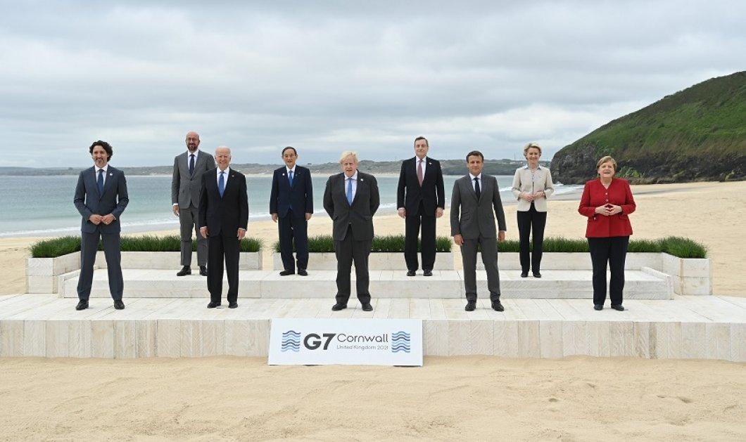 """Σύνοδος G7: Στρατηγικής σημασίας μηνύματα από τους ηγέτες της Ε.Ε με θέα τη θάλασσα της Κορνουάλης - Το """"backstage"""" της οικογενειακής φωτογραφίας  (φώτο) - Κυρίως Φωτογραφία - Gallery - Video"""