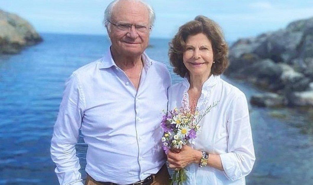 Ο πρίγκιπας Carl Philip της Σουηδίας φωτογραφίζει τον μπαμπά του βασιλιά Carl Gustaf & την μαμά του βασίλισσα Silvia - Ένα καλοκαιρινό κλικ - Κυρίως Φωτογραφία - Gallery - Video