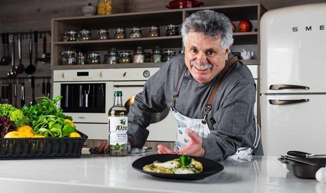 Ο Λευτέρης Λαζάρου σε σπάνια συνταγή με λαβράκι! Μην την χάσετε - έβαλε και μαντζουράνα ο «αθεόφοβος» (φωτό) - Κυρίως Φωτογραφία - Gallery - Video