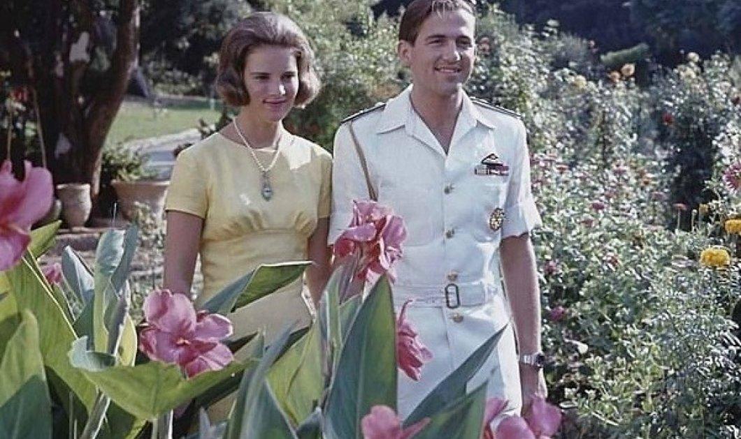 Αυτή η φωτογραφία με τα πεθερικά της είναι η αγαπημένη της Μαρί Σαντάλ: Ο Κωνσταντίνος και η Άννα Μαρία μες τα λουλούδια - Κυρίως Φωτογραφία - Gallery - Video
