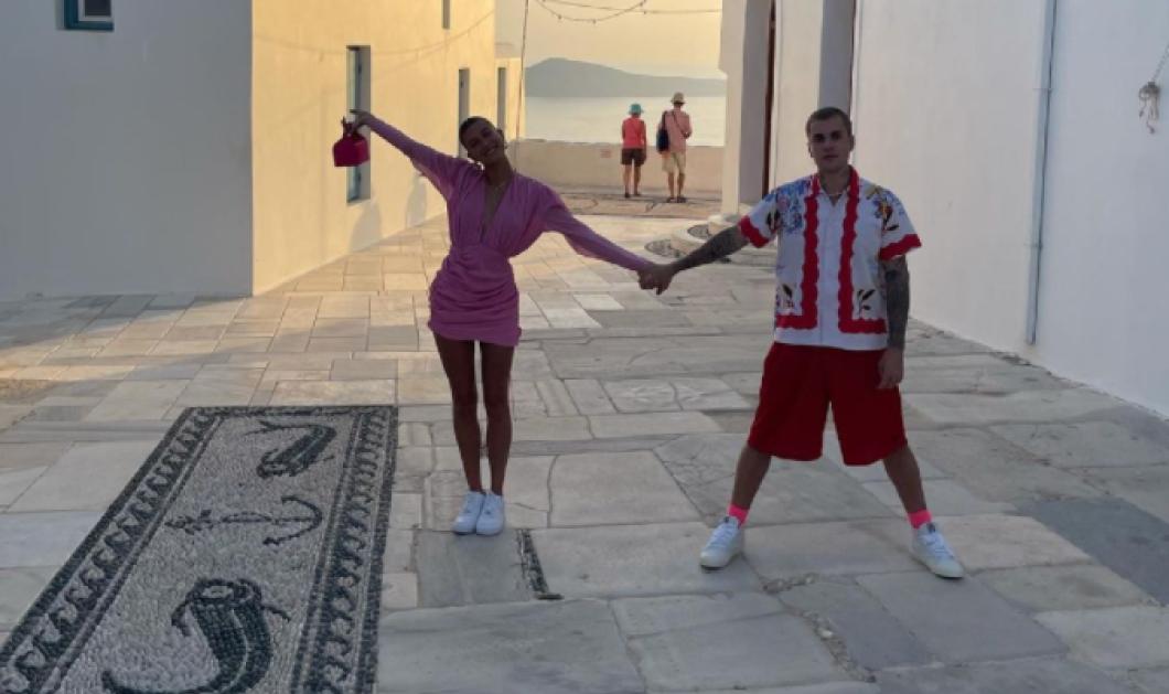 Ο Justin και η Hailey Bieber γοητευμένοι από τα ελληνικά νησιά - Τα ουζάκια στην Πάρο & το φαγητό που τους ξετρέλανε (φωτό)  - Κυρίως Φωτογραφία - Gallery - Video