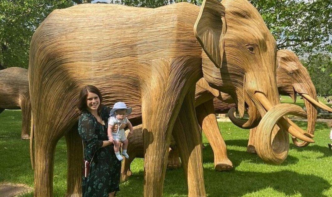 Η πριγκίπισσα Ευγενία, ο μπέμπης και ο ξύλινος ελέφαντας που λέγεται August! Ο μικρός πρίγκιπας «γνώρισε» ένα άγαλμα με το όνομά του (φωτό) - Κυρίως Φωτογραφία - Gallery - Video