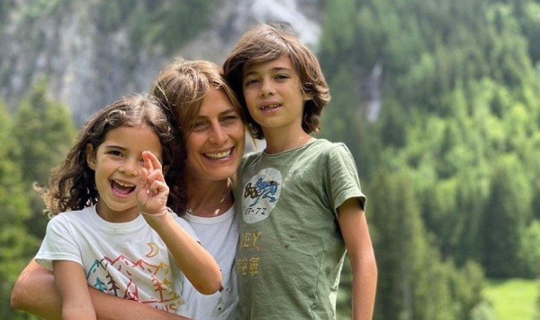 Η Τατιάνα Μπλάτνικ αγκαλιά με τα δύο αγαπημένα της ανίψια - κολύμπι στην λίμνη με τον όμορφο αδελφό της - το ταξίδι στο βουνό (φωτό) - Κυρίως Φωτογραφία - Gallery - Video