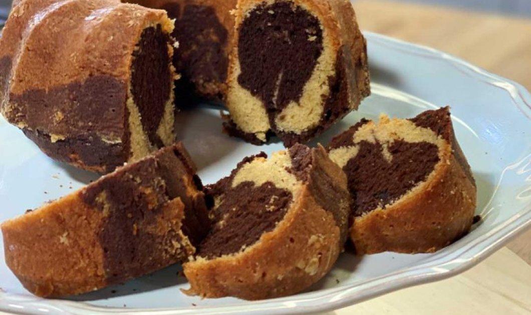 Αργυρώ Μπαρμπαρίγου: Δίχρωμο κέικ της μανούλας με βανίλια και σοκολάτα - Θα μοσχομυρίσει το κέικ - Κυρίως Φωτογραφία - Gallery - Video