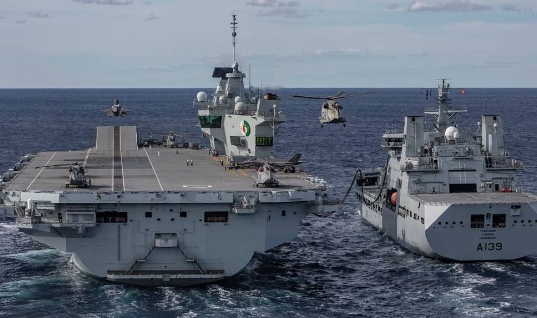 HMS Queen Elizabeth: 100 κρούσματα στο αεροπλανοφόρο - Πήγαν σε κορωνοπάρτι στην Κύπρο & κόλλησαν  - Κυρίως Φωτογραφία - Gallery - Video