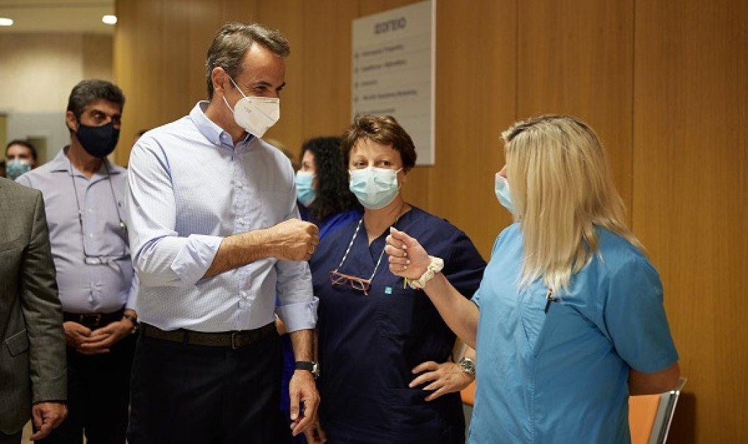 Μητσοτάκης από Χαλκίδα: Είμαστε αντιμέτωποι με μία πανδημία των ανεμβολίαστων & 4ο κύμα, από την μεταδοτική μετάλλαξη Δέλτα (φωτό & βίντεο) - Κυρίως Φωτογραφία - Gallery - Video