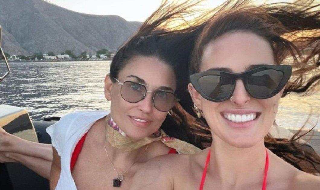Demi Moore: Ένας μήνας διακοπών με την κόρη της στην Ελλάδα - Από την Κρήτη στη Σαντορίνη κι από εκεί στη Μύκονο (φώτο-βίντεο) - Κυρίως Φωτογραφία - Gallery - Video