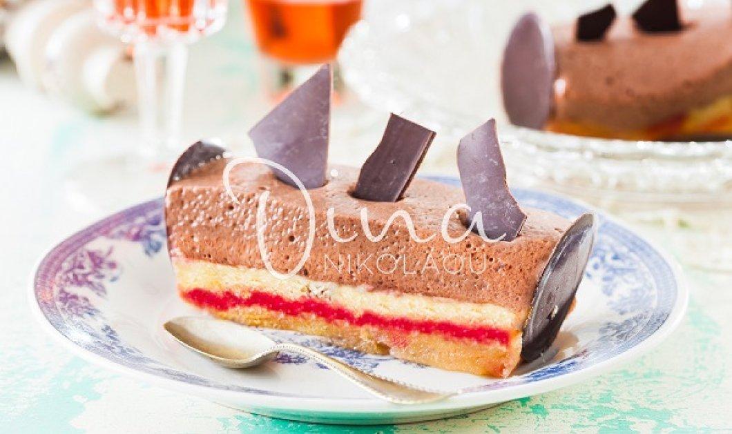 Μια απίθανη τούρτα από τη Ντίνα Νικολάου: Πορτοκάλι - κεράσι με μους σοκολάτας - εσπρέσσο! 4 δυνατές γεύσης σε μια κουταλιά - Κυρίως Φωτογραφία - Gallery - Video