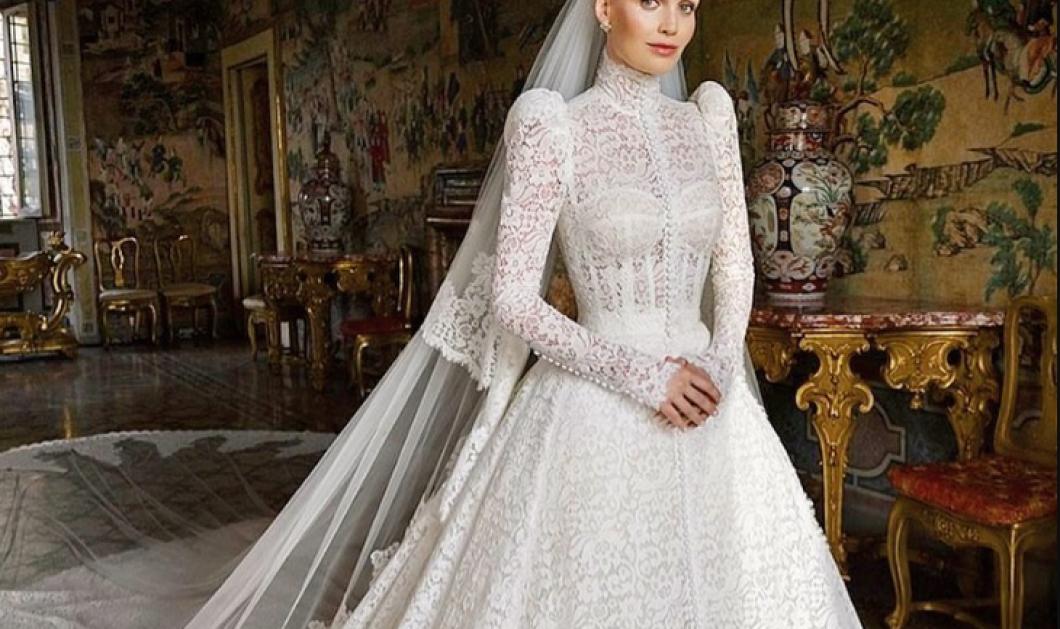 Η 30χρονη ανιψιά της πριγκίπισσας Νταϊάνα Lady Kitty Spencer παντρεύτηκε 62χρονο πολυεκατομμυριούχο - Το νυφικό Dolce & Gabbana, η παραμυθένια βίλα Βrandini για το γάμο του jet set ζεύγους (φωτό) - Κυρίως Φωτογραφία - Gallery - Video