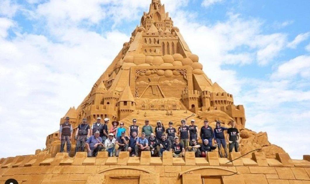 Παλάτι από  Άμμο : Tο πιο ψηλό κάστρο  του κόσμου - Το πολύπλοκα διακοσμημένο κτίσμα συμβολίζει τη δύναμη του Κορωνοϊού στον κόσμο (φώτο-βίντεο)  - Κυρίως Φωτογραφία - Gallery - Video