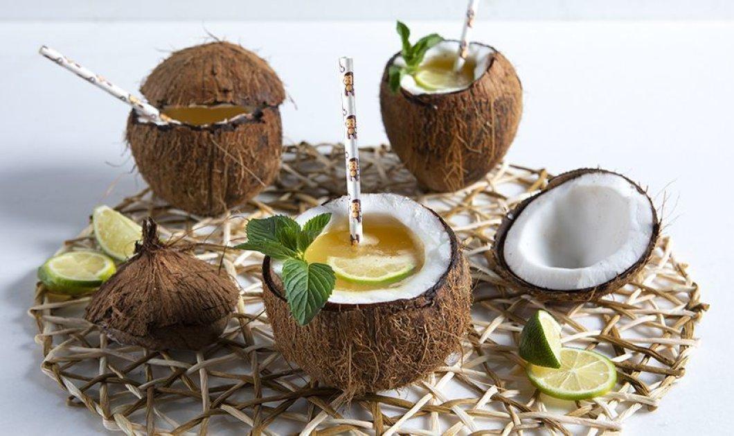 Ένα δροσιστικό, καλοκαιρινό ποτό από τα χεράκια του Άκη Πετρετζίκη - Fruit punch καρύδα - Κυρίως Φωτογραφία - Gallery - Video