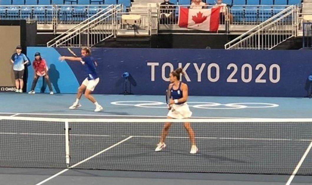 Ολυμπιακοί Αγώνες - τένις: Νικηφόρα πρεμιέρα για Μαρία Σάκκαρη και  Στέφανο Τσιτσιπά - Προκρίθηκαν στους «8» του μικτού (φωτό & βίντεο) - Κυρίως Φωτογραφία - Gallery - Video